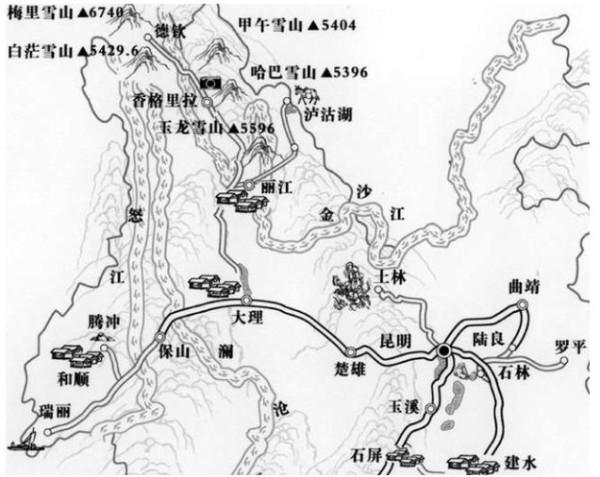 广州市地图简笔画
