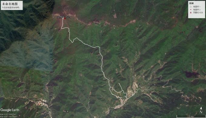 m)—榆树香—杏树台村无名车站 google地图轨迹如上(非实际轨迹记录