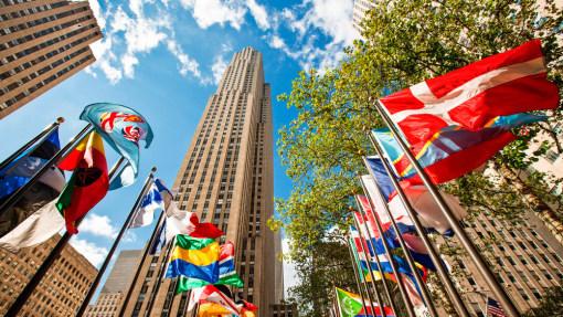世界地标记号旗子