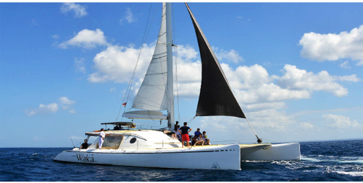 巴厘岛-蓝梦岛豪华双体帆船一日游 浮潜海钓丰富水上活动 无限量供应