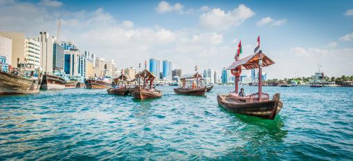 迪拜金色海湾美丽风景