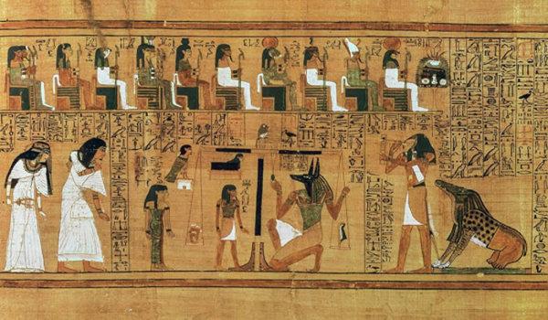 埃及壁画人物线描篇