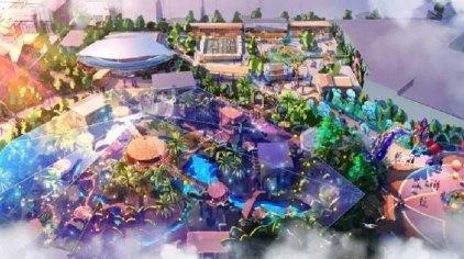 由魔法动物森林,香蕉侠攀爬王国,菠萝菠萝水世界和水果江湖小镇四大乐