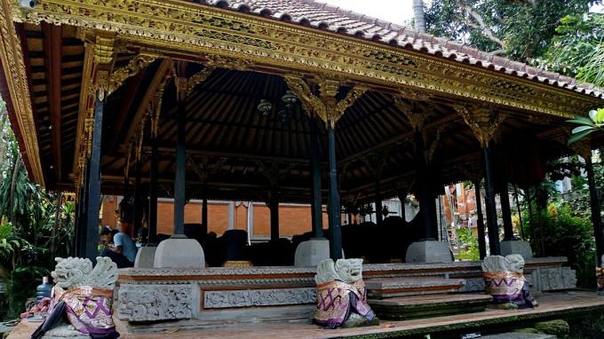 皇宫坐落在素有巴厘岛艺术重镇的乌布市里,皇宫始建于16世纪,由著名的