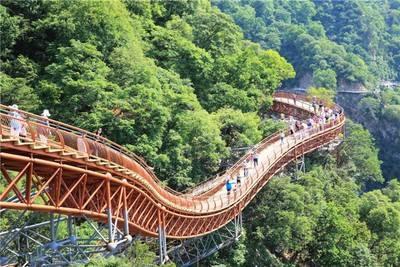 西安出发 少华山国家森林公园跟团一日游 挑战玻璃栈道 赏红叶