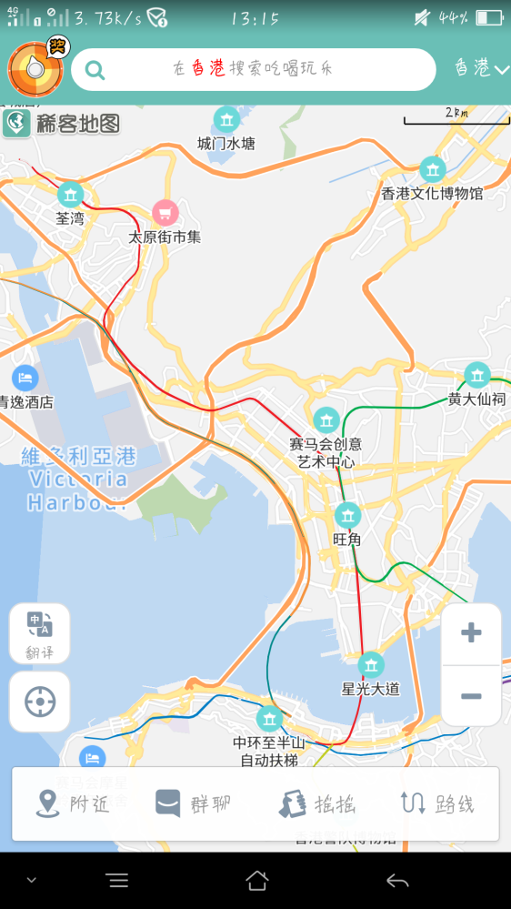 有没有香港手绘地图的蜂蜂,谢谢