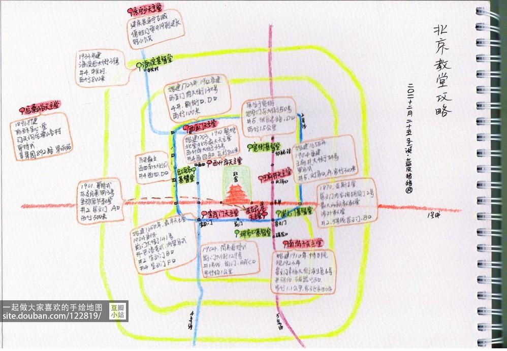 【手绘地图】北京教堂全攻略,给喜欢走访教堂的盆友zt