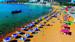 威海景点-威海国际海水浴场