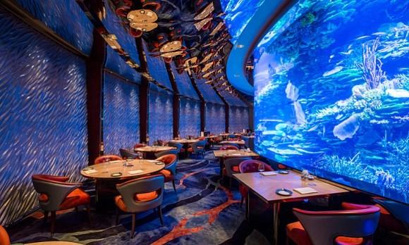 七星帆船酒店美食之 经典浪漫海底餐厅(梦幻童话 极致