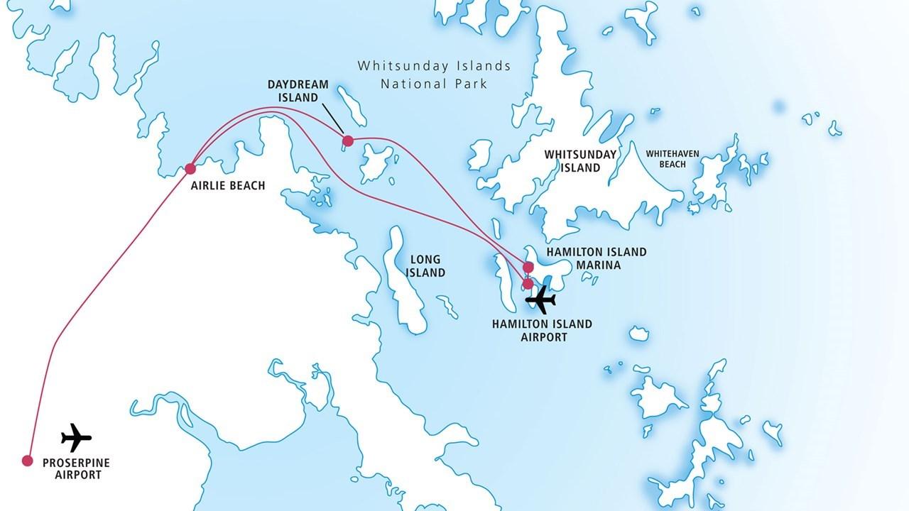 圣灵群岛度假村穿梭渡轮 单程渡轮票(艾尔利滩/汉密尔顿岛/白日梦岛)
