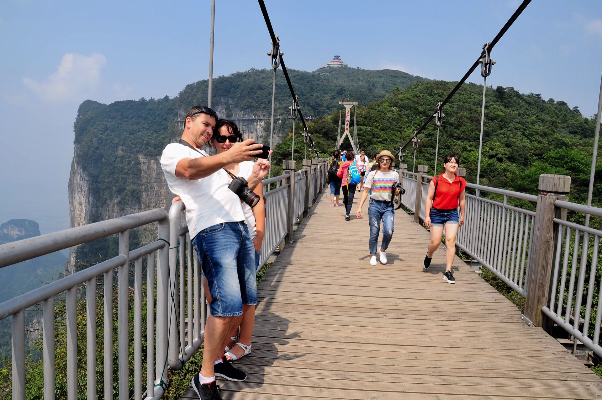 zhangjiajie mount tianmen galss skywalk