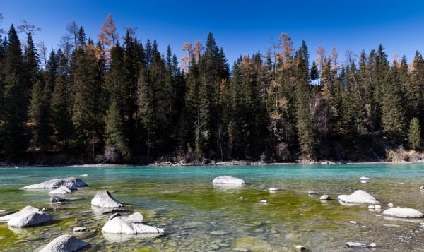 中国 阿勒泰/喀纳斯湖位于中国新疆阿勒泰 地区布尔津县北部,是一个内陆...